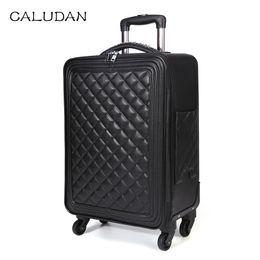 taille valise Promotion Femmes Retro bagages série 16/20/24 taille PU Sac à main et bagages à roulettes Hommes Lingge Spinner marque Trolley Suitcase vs Travel Bag