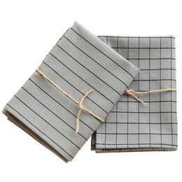 Nordic simple moderno gris raya a cuadros té toalla servilleta paño vino taza toalla fotografía fotografía fondo paño desde fabricantes