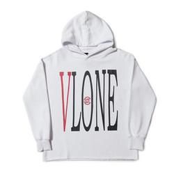 Grau weißer schwarzer hoodie online-Vlone Hoodie Vlone Männer Frauen Designer Hoodies Beste Qualität Schwarz Weiß Grau Mens Designer Hoodies Größe S-XL