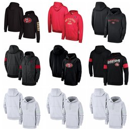 2019 bay backback jersey Hombres San Francisco49ersRendimiento Nike línea lateral local Pullover NFLCapucha