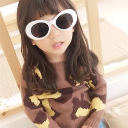 lindas gafas de sol para niñas Rebajas HJYBBSN Nirvana Vintage Oval Gafas de sol para niños Kuty Bobai Style Ray Bann Boys Baby Girls Modis Gafas de sol Cute Red Sun Glasses