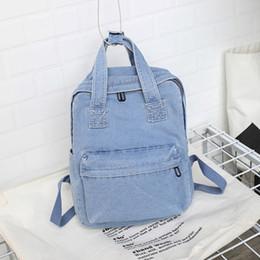 2019 college-schule taschen für mädchen Denim Frauen Rucksack Kinder Tasche Packbags Korean Umhängetasche Für Teenager Mädchen College School Bag Bagpack Rucksack Rucksack günstig college-schule taschen für mädchen