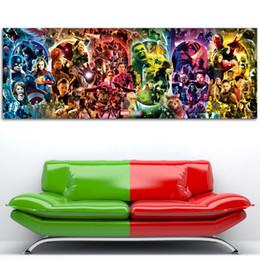 maravilha posters Desconto A Saga Infinito - Marvel Cinematic Universe Wall Art Poster Endgame lona pintura de seda impressos para decoração do quarto