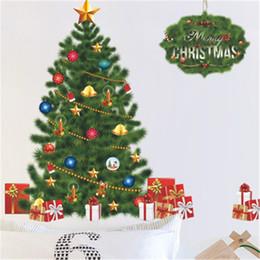 2019 alberi di natale vivi Adesivi murali rimovibili Merry Christmas Adesivi murali soggiorno Gree Christmas Tree alberi di natale vivi economici