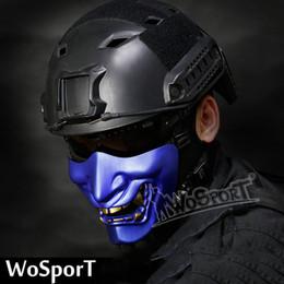 WoSporT Halloween Ball ridendo come COS Devil Horror Maschio adulto Maschera fantasma Mezza faccia maschera tattica da maschera per freddo fornitori