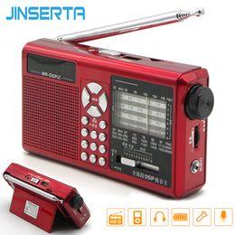 taschenrekord Rabatt JINSERTA Tragbares Radio DSP AM FM SW Taschenempfänger Vollband-Stereoradio-Unterstützung TF-Karte U Diskette mit Aufnahmewiederholung