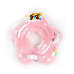 Anillo infantil de natación online-2017 Cuello flotador Accesorios para bebés Nadar Cuello Anillo Bebé Seguridad Natación Infantil Círculo Para Bañarse Inflable