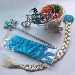 Baby Girls Accessori Cosplay Girl Crown Bacchetta magica Braid Glove Ornaments Set di quattro pezzi Bambini Cartoon Princess Accessori per la collana 07 da tubi proiettili fornitori