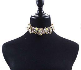 costume de maïs Promotion Mode grand cristal clavicule exagéré costumes de dîner de décorations féminines de luxe