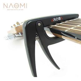 2019 acoustique guitare électrique noir NAOMI Aroma AC-01 Acoustique Guitare Électrique Capo Métal Acier Ressort Noir Couleur Guitare Accessoires Nouveau