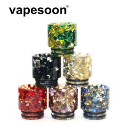 e cigs mundspitzen Rabatt Großhandel VapeSoon 810 Diamant Tropfspitze Harz Hybrid Material Tropfspitze Anzug Für TFV8 TFV12 Prinz IJUST 3 etc