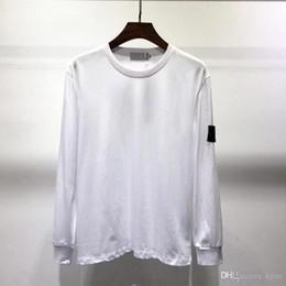 2019 camicia di stampa dell'ancora di bianco dell'uomo New Mens Fashion Designer T-shirt autunno inverno uomo manica lunga con cappuccio hip hop felpe vestiti casuali maglione isola M-2XL 8102 5 colori
