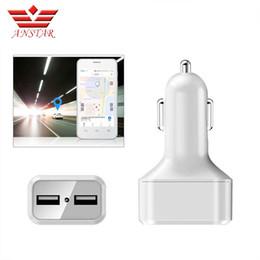 2019 зарядное устройство для двух sim-карт ANSTAR Мини Автомобильный GPS Трекер Dual USB Автомобильное Зарядное Устройство WI-FI Устройство Слежения Удаленного Прослушивания GSM GPRS Устройство Слежения Зарядное Устройство SIM дешево зарядное устройство для двух sim-карт