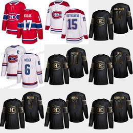 montreal canadiens trikot schwarz Rabatt 12 Yvan Cournoyer 2019 Gold Schwarz Montreal Canadiens 11 Brendan Gallagher 16 Trikots von Elmer Lach Howie Morenz Guy Lafleur Maurice Richard