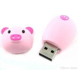 2019 porcos rápidos Navio rápido Moda 8 GB ~ 64 GB Cartões de Memória Bonito Pig Piggy USB Flash Drive vara 32 GB Rosa Claro) usb flash de armazenamento porcos rápidos barato
