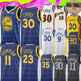Green basketball en Ligne-Stephen 30 Curry Jersey Université NCAA Kevin Klay # Thompson Draymond # Green Andre 9 lguodala 11 23 Maillots de basket-ball