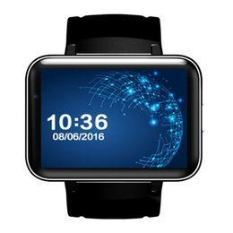 2019 nuovi orologi intelligenti wifi Nuovo regalo Android DM98 2,2 pollici schermo ad alta definizione MT6572A dual-core wifi 3G GPS frequenza cardiaca sport braccialetto orologio intelligente multi-lingua sconti nuovi orologi intelligenti wifi
