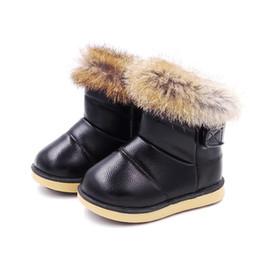 Confortable Enfants Botte Enfant Chaussures Pour Filles Neige Bottes Chaussures Semelle En Caoutchouc Bébé Filles En Plein Air Neige Coton Chaussures En Peluche Cheville Bottes Fille MX190726 ? partir de fabricateur