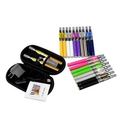 2020 ego t paket CE4 eGo Starter Kit Reißverschlussetui Verpackung Doppelte elektronische Zigarette Kit 650mAh 900mAh 1100mAh ego-t Batterie Bunte Starter Kits günstig ego t paket
