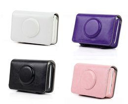 Bolsa para cámara polaroid online-Bolsa de cuero de la PU Bolsa protectora retro Funda protectora para Polaroid Snap Touch Mochila para cámara