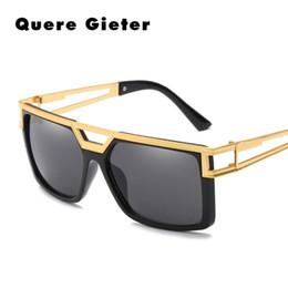 Negro blanco Pastic marcos de metal para hombre gafas de sol hombres  mujeres moda cuadrado Retro de gran tamaño Hollow gafas de sol para hombre  goggle ... 20b989ddb500