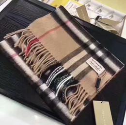 gli scialli d'argento liberano il trasporto Sconti Sciarpa per donna Design Sciarpa di alta qualità 100% Sciarpa di cachemire per inverno Donna e uomo Impacchi lunghi Taglia 180x32 cm senza scatola RT98
