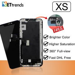 Argentina Alta Calidad asamblea de pantalla estándar LCD para iPhone XS con garantía de por vida envío de DHL Brillo Color Suministro