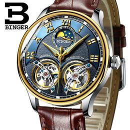 1ed7593a5c1 2019 Novos Homens Mecânicos Relógios BINGER Papel de Luxo Da Marca  Esqueleto Pulso Sapphire Homens Relógio À Prova D  Água Relógio Masculino  reloj hombre