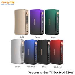 2019 gemacht box mod Original Vaporesso GEN Mod 220W Box Mod-Power von Dual-18650 v Vaporesso Luxe Nano