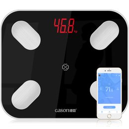 smart body scale Coupons - S4 Body Fat Scale Floor Scientific Smart Electronic LED Digital Weight Bathroom Balance Bluetooth APP Android or IOS