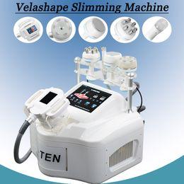 2019 cavitação rf rolo máquina de emagrecimento Velashape máquina de cavitação ultra-sônica Vacuum Roller Slimming Máquina rf treament para a pele Velashape Body Shaping terapia infravermelha cavitação rf rolo máquina de emagrecimento barato