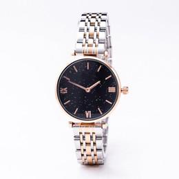 2019 horloges de tendance 2009 Tendance de la mode Femme Montre Femme Diamant Étoile Céleste Top Quartz Montre Femme Horloge Monte Robe De Ceinture Boîte promotion horloges de tendance