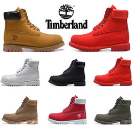 2019 New arrivel Timberland boots designer luxury mens boots winter boots top quality womens Military Triple White Black Camo size 36 45