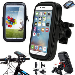 waterproof bicycle mount Promo Codes - Waterproof Motorcycle Bicycle Bike Motorcycle Handlebar Phone With Handlebar Mount Holder Case Bag For Samsung Huawei iPhone Xiaomi Redmi