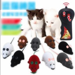 control remoto divertido Rebajas Mouse Toys Wireless RC Ratones Cat Toys Control remoto Falso Mouse Novedad RC Cat Funny Playing Mouse Toys para gatos Dropshipping C2