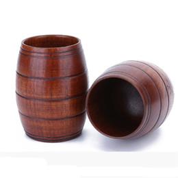 tasses en bois Promotion Baril en bois en forme de tasse de bière crestive bar poulet tasse bière en bois verre de vin de drinkware portable verre en bois MMA2521