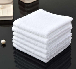 tecido de microfibra seca rápida Desconto Vender Hot Hotel Cotton pequeno salão de beleza toalha pequena Pure White Toalha Facial Toalha Praça personalizado