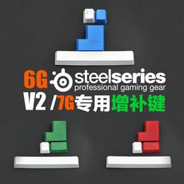 Steelseries Için 4 Adet PBT Keycaps Profesyonel Oyun Klavyesi Renkli OEM Profil 7g 6gv2 Büyük Boşluk Girin Ek Keycaps nereden