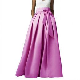 Mode Jupes De Satin Nouveau Style Pour Femmes Avec Poche Et Ceinture Personnalisé Fait Jupe De Soirée Accessoires De Mariée ? partir de fabricateur
