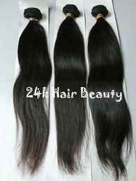 lula capelli umani Sconti 100% 8A estensioni dei capelli vergini brasiliani 3 bundles capelli lisci brasiliani non rasati tessuto dei capelli umani