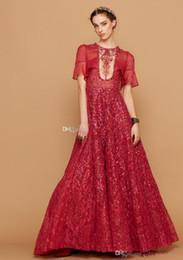 3 Modelos De Mangas Cortas Borgoña Vestidos De Baile Vestidos De Novia Una Línea De Tren De Barrido Muy Bordado Nupcial 2019 Nuevos Vestidos De Baile