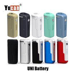 Canada 100% d'origine Yocan UNI Box Mod 650mAh Batterie Préchauffer Tension Variable VV Vape Mods Avec Magnétique 510 Adaptateur Pour Cartouche D'huile Épaisse Offre