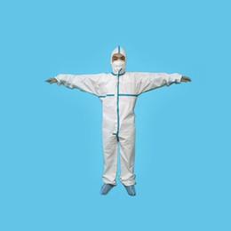ropa de soldadura Rebajas 2020 Traje HR Desechable Mono SafeGard protector con elástico del manguito y Hood 6 Tamaño de envío gratuito