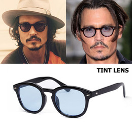 Occhiali lenti colorate online-JackJad New Fashion Johnny Depp Lemtosh Occhiali da sole rotondi stile Tinta Oceano Lens Design del marchio Party Show Occhiali da sole Oculos De Sol