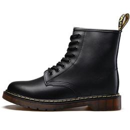 Chaussures d'hiver en Ligne-Chaude Marque Hommes Bottes Martens En Cuir Hiver Chaud Chaussures Moto Hommes Cheville Botte Doc Martins De Fourrure Hommes Oxfords Chaussures