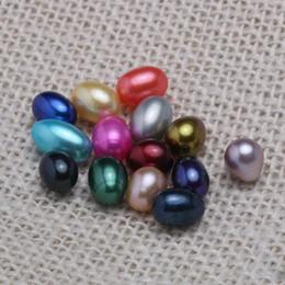 Oval Oyster Pearl 2019 new 7-10mm 20 mix color Acqua dolce Perle naturali Regalo Decorazioni sciolte fai-da-te Confezione sottovuoto da