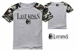 2019 estilo de camiseta de cuero de los hombres Z1593579 New Style last king T-shirt Fashion Rock para hombre Camisetas Tops coloridas camisas de manga corta de cuero, venta caliente estilo de camiseta de cuero de los hombres baratos