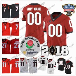Custom Georgia Bulldogs Any Name Number Jersey Holyfield Hardman  Blankenship Fromm Chubb UGA 2018 Champions Sugar Bowl Rose white red black  affordable ... 935fd6e2b