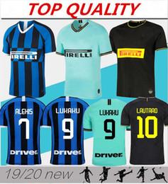 Futebol inter de milão on-line-2019 2020 Inter thai qualidade camisa de futebol SKRINIAR ALEXIS camisas 19 20 LUKAKU Milan camisas de futebol