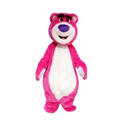 2020 joli costume de mascotte d'ours Pink Bear mascot costume Adult Character Costume Fancy party Dress Cute Dolls mascotte Birthday party Outfits Adult Size promotion joli costume de mascotte d'ours